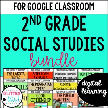 MEGA BUNDLE Second-Grade Social Studies for Google Drive & Google Classroom