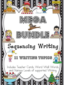 Sequencing, How To, or Narrative Writing- Mega Bundle 11 Writing Prompts