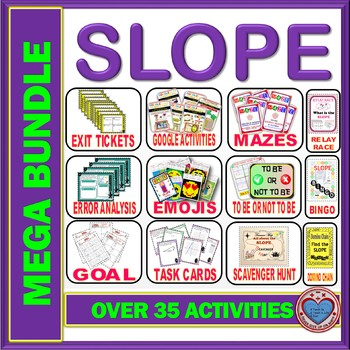 MEGA BUNDLE Slope Activities (60 %+ OFF) - 39 PRODUCTS=501 Pages