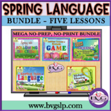 Spring Five Complete Language Literacy BUNDLE w/ BOOM CARD