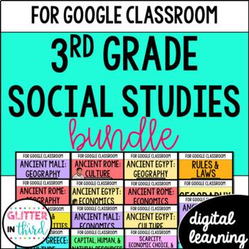 MEGA BUNDLE Third-Grade Social Studies for Google Drive & Google Classroom