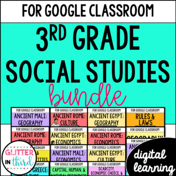 MEGA BUNDLE Third-Grade Social Studies for Google Drive &