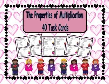 MEGA BUNDLE: Valentine's Word Problems and Mulitplication Properties