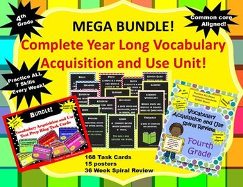 MEGA BUNDLE! YEAR LONG COMPLETE Vocabulary Acquisition Unit -Common Core Aligned