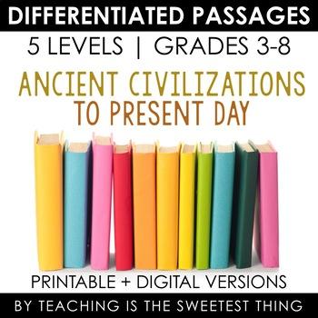 Social Studies MEGA BUNDLE: ALL Social Studies Differentiated Reading Passages