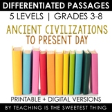 Social Studies MEGA BUNDLE: ALL Social Studies Differentiated Reading Passages