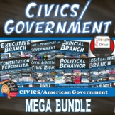 MEGA BUNDLE for CIVICS (U.S. Government)(Grades 8-12)–SAVE $$$