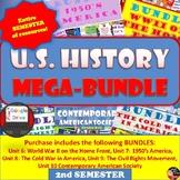 US History MEGA BUNDLE | 2nd Semester Units 6-10 |SAVE $$$ | Print and Digital