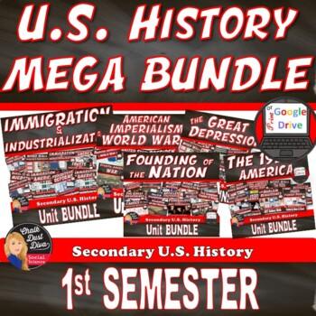 MEGA BUNDLE for U.S. History (1st Semester Units 1-5)–SAVE $$$