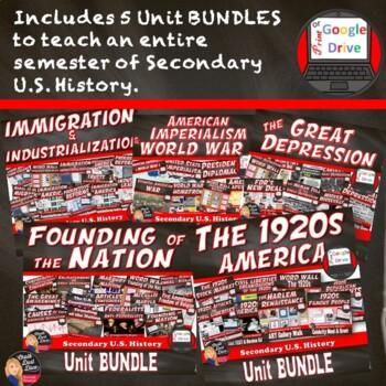 MEGA BUNDLE for U.S. History (1st Semester Units 1-5)–SAVE $$$ Print & Digital