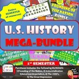 MEGA BUNDLE for U.S. History | 1st Semester Units 1-5 | SAVE $$$ Print & Digital