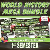MEGA BUNDLE for World History | 1st Semester Units 1-5 |SAVE 25% Print & Digital