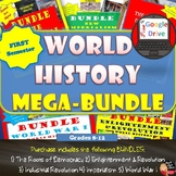MEGA BUNDLE for World History (1st Semester Units 1-5) SAV