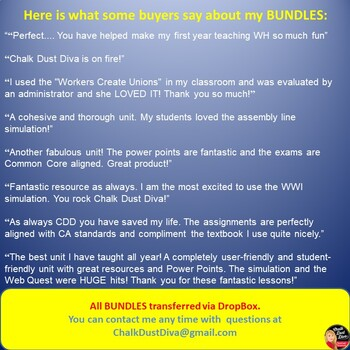 MEGA BUNDLE for World History (2nd Semester Units 6-9) SAVE $$$