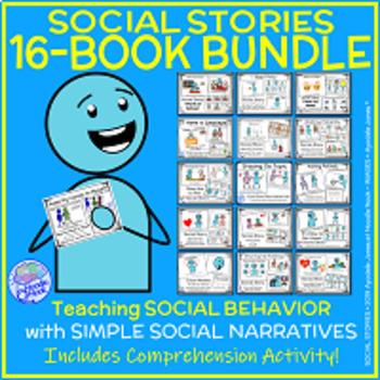 MEGA BUNDLE of 16 Social Stories for Autism Units or Early Elem