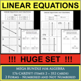Set of 176 Linear Equation Task Cards Graphing Slope Equation of Line