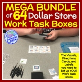 MEGA BUNDLE of 64 Dollar Store Vocational Work Task Boxes with Visuals