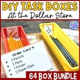 MEGA BUNDLE of 64 Dollar Store Vocational Work Task Boxes