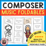 Music Composers: Interactive Notebook Foldables BUNDLE