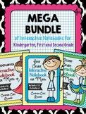 Kindergarten, First and Second Grade Math Interactive Notebook Bundle
