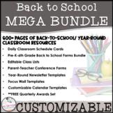 MEGA Back to School / Open House / Welcome EDITABLE 2018-2