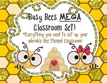 Bee Theme Classroom Set!