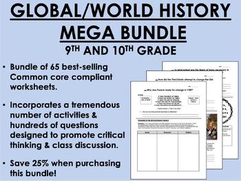 MEGA Bundle - 9th and 10th Grade Global/World History - Co