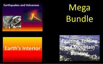 MEGA Bundle (Earth's Interior, Faulting/Folding and Earthquakes/Volcanoes)