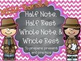 MEGA-Bundle Half & Whole Notes/Rests - Songs & Activities