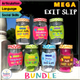 MEGA Bundle of 700 Exit Slips for Articulation. Language and Social Skills