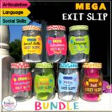 MEGA Bundle of 700 Exit Slips for Articulation, Language & Social Skills