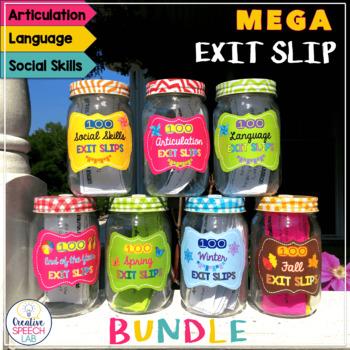 MEGA Bundle of 700 Exit Slips for Articulation. Language a