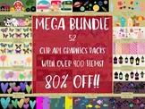 MEGA Bundle of Clip Art Elements, 52 Packs bundles into 1