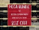 MEGA Bundle of Design Elements, 58 Packs bundles into 1 li