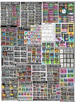 CLASS DECOR: CLASS DECOR MEGA BUNDLE {KIDS & CLASSIC CHALKBOARD}