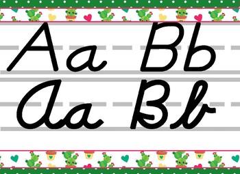 MEGA Cactus Themed Bundle- alpha strip, name plates, banner, number line