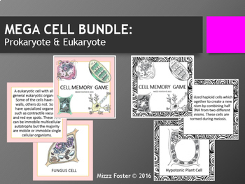 MEGA Cell Bundle: Prokaryote and Eukaryote, Simple and Complex Cells