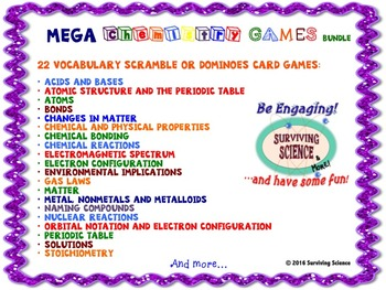 MEGA Chemistry Bundle of 43 Games and Puzzles