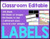 MEGA Classroom Labels {Editable}