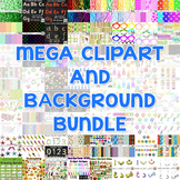 MEGA Clipart and Background Bundle