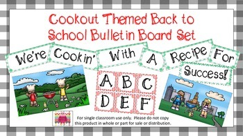 MEGA Cookout Themed Back To School Bulletin Board Set