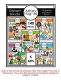 MEGA Digraph Clipart Bundle {A Hughes Design}