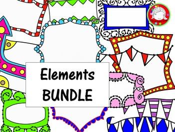 MEGA Elements SUPER COLORFUL BUNDLE {156 Clips} (Personal & Commercial Use)