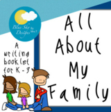 About My Family Writing Booklet