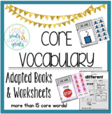 MEGA GROWING BUNDLE: Core Vocabulary Books & Worksheets
