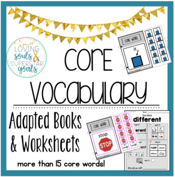 MEGA GROWING BUNDLE: Core Vocabulary Books & Worksheets
