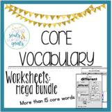 MEGA GROWING BUNDLE: Core Vocabulary WORKSHEETS