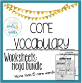 MEGA GROWING BUNDLE: Core Vocabulary WORKSHEETS