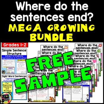 MEGA GROWING BUNDLE Where do the sentences end? FREE SAMPLE