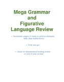 MEGA Grammar and Figurative Language Review Packet!!